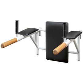 Брусья с подлокотниками (деревянные ручки) цельносварные, Цвет металлических частей комплекса: Серый, фото