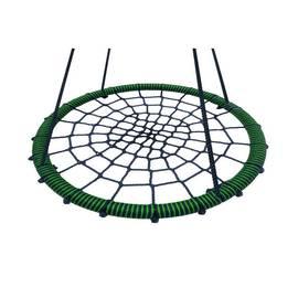Качели- гнездо BABY-GRAD 100 см (Черно/салатовый), Диаметр кольца: 100 см, Цвет качелей: Черно/салатовый, фото