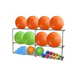 Подвесная консоль для 10 фитболов с полкой для некрупного инвентаря (3 метра), фото