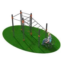 Спортивный комплекс, адаптированный для инвалидов-колясочников СВС-124, Диаметр несущей трубы: 76 мм (частное использование), Заглушка для стоек: АБС-ПЛАСТИК, фото
