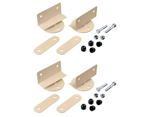 Крепеж на деревянную шведскую стенку усиленный (комплект 4шт), Вынос от стены креплением усиленным: 2,5 см, Цвет: Бежевый, фото