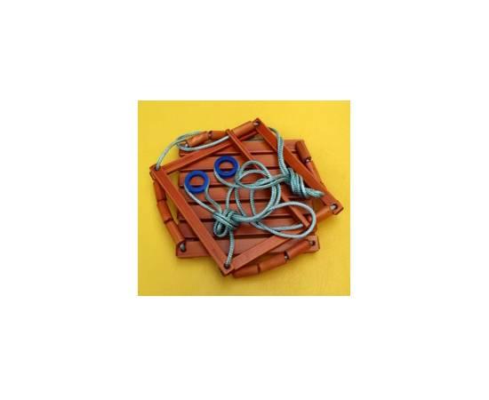 Качели веревочные лакированные Вертикаль, фото
