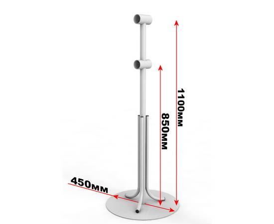 Кронштейн мобильный двухрядный с круглым основанием, фото