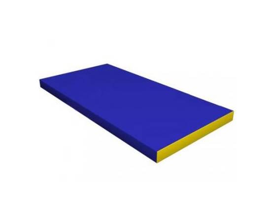 Мат гимнастический №1 (100 х 50 х 10) см сине/жёлтый, Цвет: Сине/жёлтый, фото