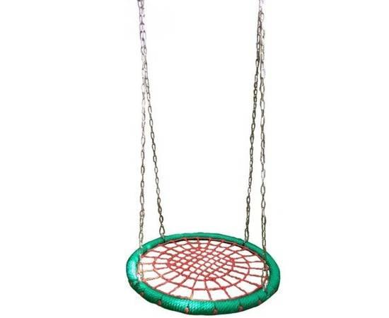 "Качели ""Гнездо"" ХИТ овал 120x160 см на цепях, Диаметр кольца: Овал 120x160 см, фото"