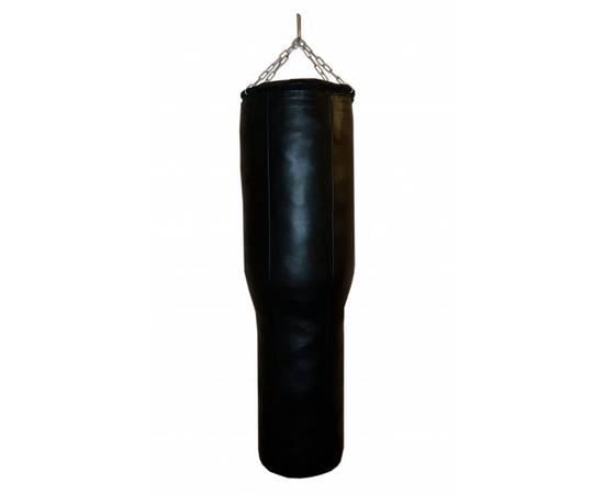 Боксерский мешок РОККИ фигурный Гильза натуральная кожа 120*40/30 см 45 кг, фото