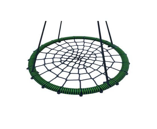 Качели - гнездо BABY-GRAD 115 см (Черно/салатовый), Диаметр кольца: 115 см, Цвет качелей: Черно/салатовый, фото