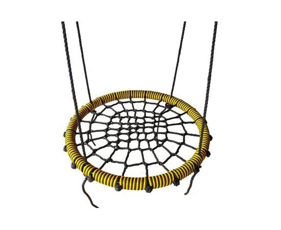 Качели- гнездо BABY-GRAD 80 см (Черно/желтый), Диаметр кольца: 80 см, Цвет качелей: Черно/желтый, фото