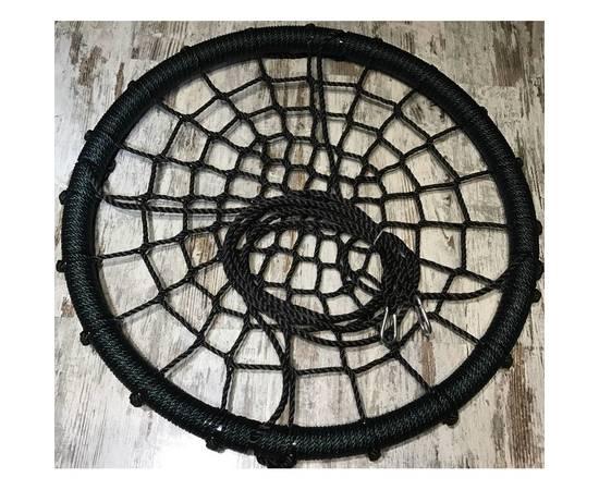 Качели- гнездо BABY-GRAD 80 см (Черно/зеленый), Диаметр кольца: 80 см, Цвет качелей: Черно/зеленый, фото