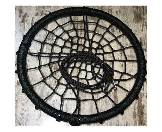 Качели- гнездо BABY-GRAD 100 см (Черно/зеленый), Диаметр кольца: 100 см, Цвет качелей: Черно/зеленый, фото