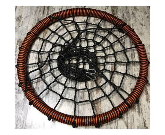 Качели - гнездо BABY-GRAD 115 см (Черно/оранжевый), Диаметр кольца: 115 см, Цвет качелей: Черно/оранжевый, фото