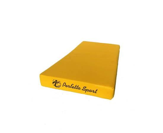 Мат гимнастический PERFETTO SPORT №1 (100 х 50 х 10) см желтый, Цвет: Жёлтый, фото