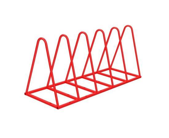 """Велопарковка """"Пирамида"""" (5 мест) (VP50), Материал: Сталь конструкционная, Число веломест: 5 мест, фото"""