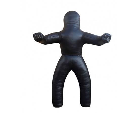 Манекен для борьбы и бросков двуногий Рокки (натуральная кожа) 150 см, фото