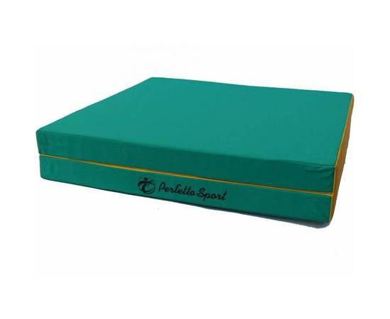 Мат гимнастический складной PERFETTO SPORT № 8 (100 х 200 х 10) см зелёно/жёлтый, Цвет: Зелёно/жёлтый, фото