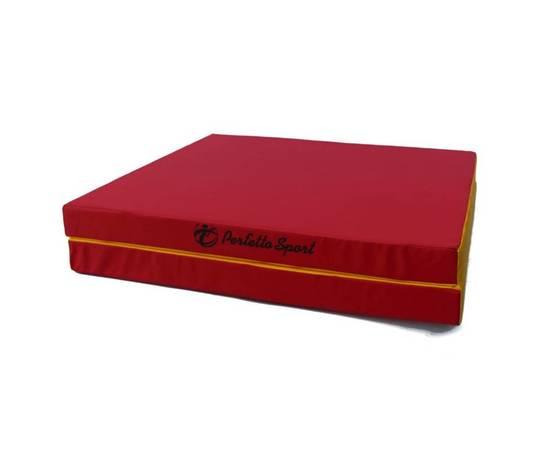 Мат гимнастический складной PERFETTO SPORT № 8 (100 х 200 х 10) см красно/жёлтый, Цвет: Красно/жёлтый, фото