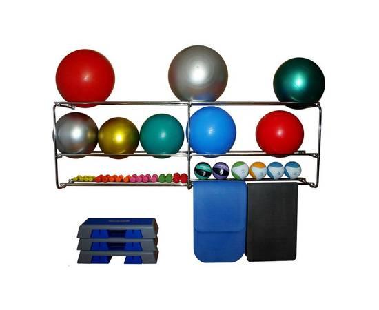 Консоль 3 уровневая для фитболов, медболов, ковриков и гантелей (1 п.м.), фото
