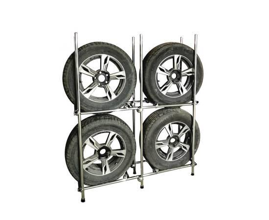 Стеллаж для шин и колёс на 4 колеса, фото