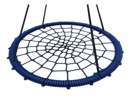 Качели- гнездо BABY-GRAD 80 см (Черно/Синий), Диаметр кольца: 80 см, Цвет качелей: Черно/синий, фото