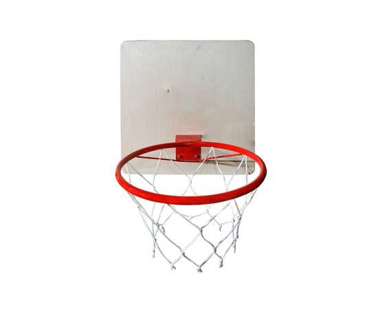 Кольцо баскетбольное с сеткой КМС d=295 мм, фото
