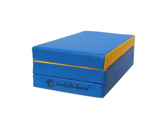 Мат гимнастический складной PERFETTO SPORT № 4 (100 х 150 х 10) см сине/жёлтый, Цвет: Сине/жёлтый, фото