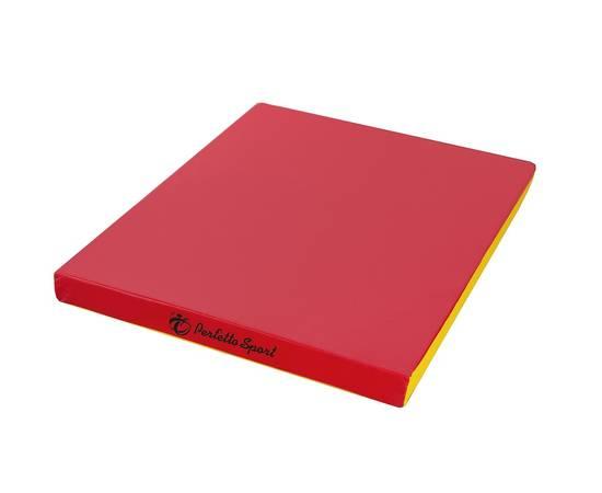 Мат гимнастический PERFETTO SPORT № 2 (100 х 100 х 10) см красно/жёлтый, Цвет: Красно/жёлтый, фото