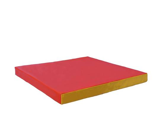 Мат гимнастический № 2 (100 х 100 х 10) см красно/жёлтый, Цвет: Красно/жёлтый, фото