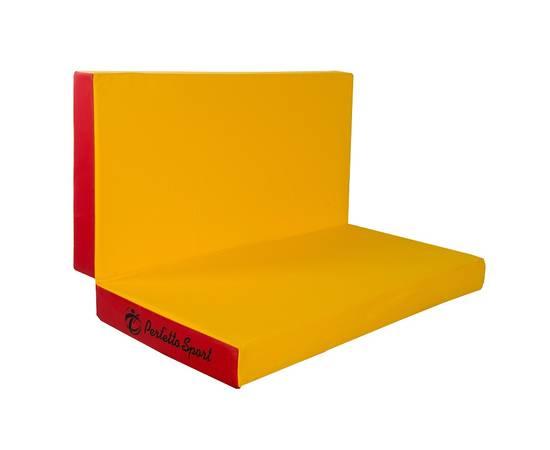 Мат гимнастический складной PERFETTO SPORT № 3 (100 х 100 х 10) см красно/жёлтый, Цвет: Красно/жёлтый, фото