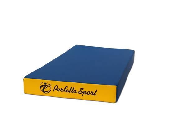 Мат гимнастический PERFETTO SPORT №1 (100 х 50 х 10) см сине/жёлтый, Цвет: Сине/жёлтый, фото