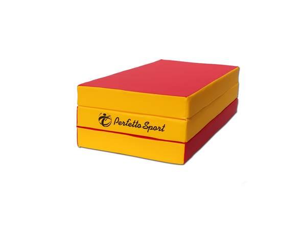 Мат гимнастический складной PERFETTO SPORT № 4 (100 х 150 х 10) см красно/жёлтый, Цвет: Красно/жёлтый, фото