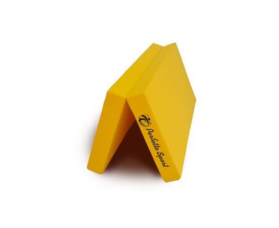 Мат гимнастический складной PERFETTO SPORT № 3 (100 х 100 х 10) см жёлтый, Цвет: Жёлтый, фото