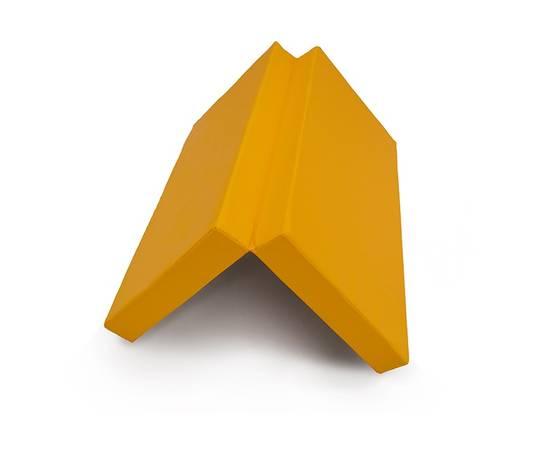 Мат гимнастический складной № 3 (100 х 100 х 10) см жёлтый, Цвет: Жёлтый, фото