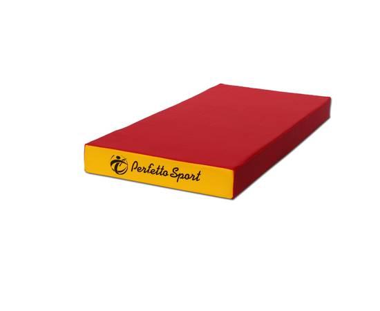 Мат гимнастический PERFETTO SPORT №1 (100 х 50 х 10) см красно/жёлтый, Цвет: Красно/жёлтый, фото