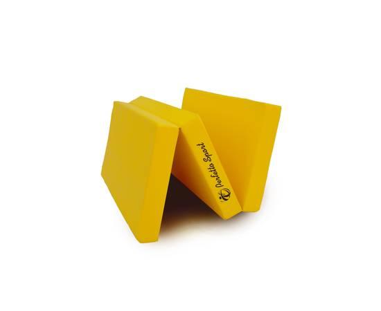 Мат гимнастический складной PERFETTO SPORT № 4 (100 х 150 х 10) см жёлтый, Цвет: Жёлтый, фото