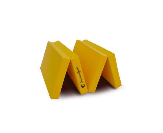 Мат гимнастический складной PERFETTO SPORT № 5 (100 х 200 х 10) см жёлтый, Цвет: Жёлтый, фото