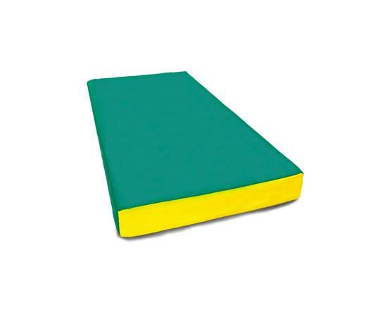 Мат гимнастический №1 (100 х 50 х 10) см зелёно/жёлтый, Цвет: Зелёно/жёлтый, фото
