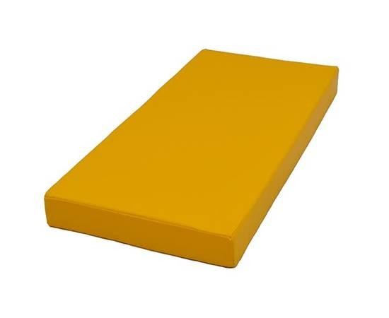 Мат гимнастический №1 (100 х 50 х 10) см жёлтый, Цвет: Жёлтый, фото