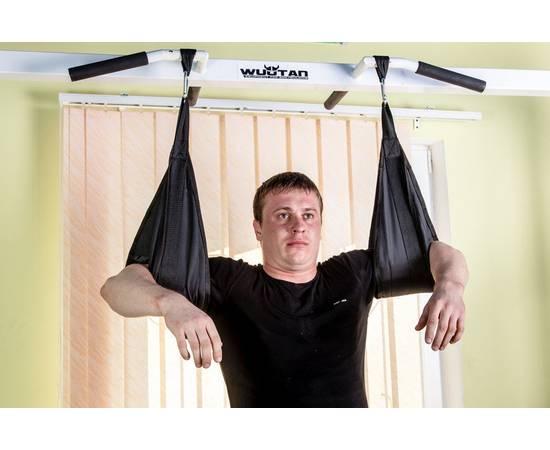 Петли Береша подвесные атлетические B1, малый карабин (150 кг) черные, фото