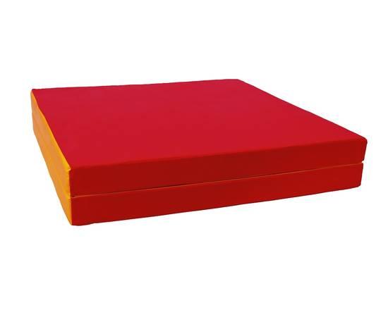 Мат гимнастический складной №8 (100 х 200 х 10) см красно/жёлтый 1 сложение, Цвет: Красно/жёлтый, фото
